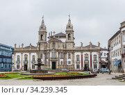 Museu dos Biscainhos in Braga, Portugal. Редакционное фото, фотограф Николай Коржов / Фотобанк Лори