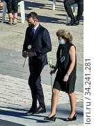 Купить «Pedro Sanchez, Prime Minister attend Spanish Royals attends State tribute to the victims of the coronavirus (Covid-19) and recognition to society at Royal Palace on July 16, 2020 in Madrid, Spain», фото № 34241281, снято 16 июля 2020 г. (c) age Fotostock / Фотобанк Лори