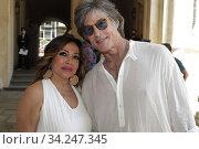 Mirella Rocca casting oragnizer and Ronn Moss during the casting ,Turin, ITALY-16-07-2020. Редакционное фото, фотограф Renato Valterza / AGF/Renato Valterza / AGF / age Fotostock / Фотобанк Лори