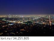 Night Los Angeles (2012 год). Стоковое фото, фотограф Арестов Андрей Павлович / Фотобанк Лори