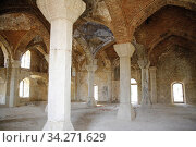 Lower Govhar Aga mosque in Shushi town. After Armenian occupation. Shushi in Nagorno Karabakh. After the war with Azerbadjan. Only some houses are restored... Стоковое фото, фотограф Andre Maslennikov / age Fotostock / Фотобанк Лори