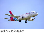 Yamal Airlines Sukhoi Superjet 100-95LR. Редакционное фото, фотограф Art Konovalov / Фотобанк Лори