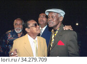 The late musicians of BUENA VISTA SOCIAL CLUB: Ruben Gonzales, Ibrahim Ferrer, Puntillita, Cachao, Havana, Cuba, 2000. (2009 год). Редакционное фото, фотограф Julio Etchart / age Fotostock / Фотобанк Лори
