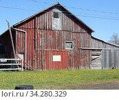 Old Barn, Allegany County, New York, USA. Стоковое фото, фотограф Barrie Fanton / age Fotostock / Фотобанк Лори