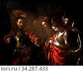 Купить «Art, Caravaggio Michelangelo Merisi, Milano 1571 - Porto Ercole 1610, title of the work, 'The Martyrdom of Saint Ursula' 1610, oil painting on canvas cm 140,5 x 170,5.», фото № 34287433, снято 7 августа 2020 г. (c) age Fotostock / Фотобанк Лори