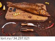 Smoked fish on the table. Стоковое фото, фотограф Тихомирова Ольга / Фотобанк Лори