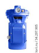 Water pump with electric motor on a white. Стоковое фото, фотограф Бражников Андрей / Фотобанк Лори