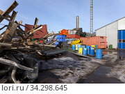 Scrap recycling. Sweden. Photo: André Maslennikov. Стоковое фото, фотограф Andre Maslennikov / age Fotostock / Фотобанк Лори