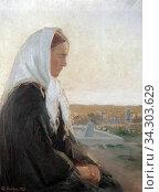 Ancher Anna - Am Grab - Danish School - 19th and Early 20th Century. Редакционное фото, фотограф Artepics / age Fotostock / Фотобанк Лори