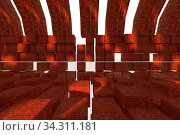 3d rendering of backgrounds abstract. 3d illustration of simple Geometric. Стоковое фото, фотограф Zoonar.com/Ake Puttisarn / easy Fotostock / Фотобанк Лори