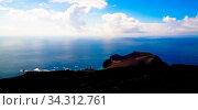 Landscape to Capelinhos volcano caldera at Faial, Azores, Portugal. Стоковое фото, фотограф Zoonar.com/Sergey Mayorov / easy Fotostock / Фотобанк Лори