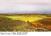 Panorama inside Dallol volcanic crater in Danakil depression, Afar, Ethiopia. Стоковое фото, фотограф Zoonar.com/Sergey Mayorov / easy Fotostock / Фотобанк Лори