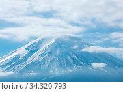 Купить «Mountain Fuji fujisan from kawaguchigo lake at Yamanashi Japan», фото № 34320793, снято 7 августа 2020 г. (c) easy Fotostock / Фотобанк Лори