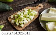 Купить «Zucchini harvesting concept.», фото № 34325013, снято 14 августа 2019 г. (c) Ольга Сергеева / Фотобанк Лори