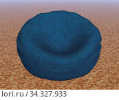 Blauer Sitzsack aus Leder. Стоковое фото, фотограф Zoonar.com/Dr. Norbert Lange / easy Fotostock / Фотобанк Лори