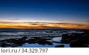 La Jolla tide pools at sunset with views of toned skies. Стоковое фото, фотограф Zoonar.com/Jason C. Finn www.OrangePalmStudio.com / easy Fotostock / Фотобанк Лори