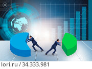 Купить «Business analytics concept with the pie chart», фото № 34333981, снято 5 августа 2020 г. (c) easy Fotostock / Фотобанк Лори