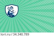 Business card showing Illustration of triton mythological god arms... Стоковое фото, фотограф Zoonar.com/patrimonio designs limited / easy Fotostock / Фотобанк Лори