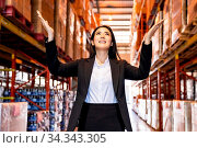 Portrait of asian confidence businesswoman standing in large factory... Стоковое фото, фотограф Zoonar.com/Vichie81 / easy Fotostock / Фотобанк Лори