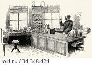 Robert Koch (1843- 1910) in his laboratory. German physician and ... Стоковое фото, фотограф Jerónimo Alba / age Fotostock / Фотобанк Лори