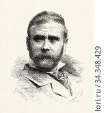 Portrait of Antonio Cortina Farinós (Almácera 1841 - Madrid, 1890... Стоковое фото, фотограф Jerónimo Alba / age Fotostock / Фотобанк Лори
