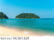 Pangkor island with the beach of the tourist village Teluk Nipah and... Стоковое фото, фотограф Zoonar.com/Stefan Laws / easy Fotostock / Фотобанк Лори
