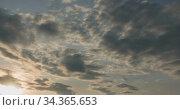 timelapse sunrise, from dark to bright day sun, over sea, waves are washing. Стоковое видео, видеограф Александр Маркин / Фотобанк Лори