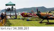 Air show Aerosport at Igualada-Odena aerodrome (2018 год). Редакционное фото, фотограф Яков Филимонов / Фотобанк Лори