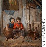 Bremen Johann Georg Meyer Von - Zwei Kinder Mit Vogelnest - German... Редакционное фото, фотограф Artepics / age Fotostock / Фотобанк Лори