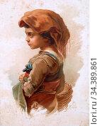 Bach Guido - a Child from the Campagna - German School - 19th Century. Редакционное фото, фотограф Artepics / age Fotostock / Фотобанк Лори