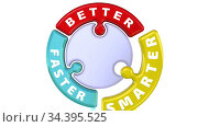 Better, smarter, faster. The check mark in the form of a puzzle. Стоковая анимация, видеограф WalDeMarus / Фотобанк Лори