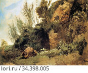 Feuerbach Anselm - Terrainstudie Aus Den Caracalla- Thermen - German... (2020 год). Редакционное фото, фотограф Artepics / age Fotostock / Фотобанк Лори