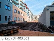 Baustelle des neu errichteten Domviertels in der Innenstadt von Magdeburg... Стоковое фото, фотограф Zoonar.com/Heiko Kueverling / easy Fotostock / Фотобанк Лори