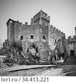 The first tower of San Marino. Стоковое фото, фотограф Роман Сигаев / Фотобанк Лори