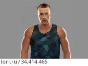 portrait of young man or bodybuilder. Стоковое фото, фотограф Syda Productions / Фотобанк Лори