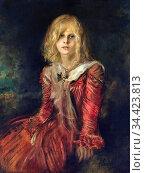Lenbach Franz Von - Marion Lenbach the Artist's Daughter 2 - German... Редакционное фото, фотограф Artepics / age Fotostock / Фотобанк Лори