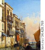 Nerly Friedrich - the Palazzi Contarini-Fasan and Contarini Venice... (2020 год). Редакционное фото, фотограф Artepics / age Fotostock / Фотобанк Лори