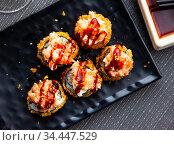 Hot fried futomaki. Стоковое фото, фотограф Яков Филимонов / Фотобанк Лори