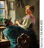 Rau Emil - Eine Fesche Bedienung - German School - 19th Century. Стоковое фото, фотограф Artepics / age Fotostock / Фотобанк Лори