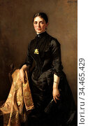Sohn Carl Rudolph - Portrait of a Lady - German School - 19th Century. Редакционное фото, фотограф Artepics / age Fotostock / Фотобанк Лори
