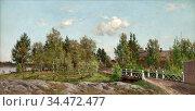 Munsterhjelm Hjalmar - Vanha Kotisilta - Finnish School - 19th Century... Редакционное фото, фотограф Artepics / age Fotostock / Фотобанк Лори
