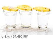 Tequila with lemon and salt. Стоковое фото, фотограф Zoonar.com/Yeko Photo Studio / easy Fotostock / Фотобанк Лори