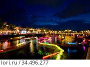 The famous Hoi An Full Moon lantern festival in Vietnam. Стоковое фото, фотограф Zoonar.com/Chris Putnam / easy Fotostock / Фотобанк Лори