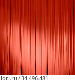 Living Coral color of the Year 2019. Stage Curtain with coral in trendy... Стоковое фото, фотограф Zoonar.com/Ruslan Gilmanshin / easy Fotostock / Фотобанк Лори