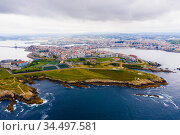 Aerial view of A Coruna. Стоковое фото, фотограф Яков Филимонов / Фотобанк Лори