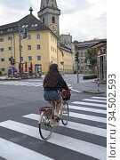 Brunico, Province de Bolzano, Region du Trentin-Haut-Adige, Tyrol... Стоковое фото, фотограф Christian Goupi / age Fotostock / Фотобанк Лори