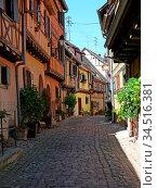 Eguisheim, Elsaß, Egisheim, egsa, dorf, vogesen, malerisch, pittoresk... Стоковое фото, фотограф Zoonar.com/Volker Rauch / easy Fotostock / Фотобанк Лори