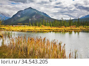 Cold morning on lake in northern mountains in the beginning of autumn. Стоковое фото, фотограф Zoonar.com/kavram / easy Fotostock / Фотобанк Лори