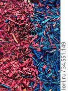 Textured background decorative colored sawdust for finishing flowerbeds... Стоковое фото, фотограф Zoonar.com/Ian Iankovskii / easy Fotostock / Фотобанк Лори