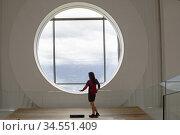 Le 'Shutter', LUMEN, musee de la Photographie de Montagne (Architectes... Редакционное фото, фотограф Christian Goupi / age Fotostock / Фотобанк Лори